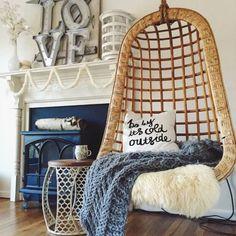 Hanging chair dream apartment, apartment ideas, dream rooms, dorm room, m. Bedroom Decor For Teen Girls, Dream House Interior, Dream Apartment, Apartment Ideas, Dream Rooms, House Rooms, Living Room Chairs, Decoration, Dorm Room