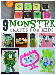 Monster Crafts & Activities For Kids - Pinned by @PediaStaff – Please Visit http://ht.ly/63sNt for all our pediatric therapy pins