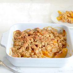 """Enjoying the last weeks of summer and making my Paleo Peach Crisp  http://elanaspantry.com/paleo-peach-crisp/ #peaches #paleo #dessert #stonefruit…"""
