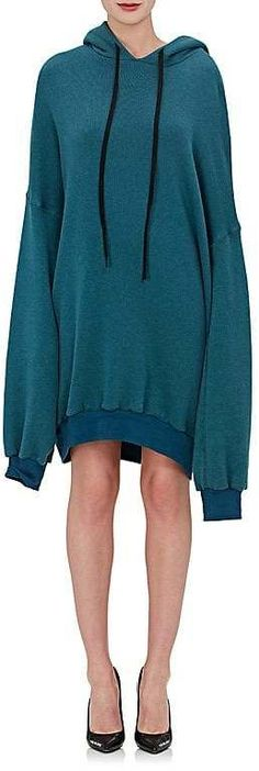 Ben Taverniti Unravel Project Women's Cotton-Cashmere French Terry Hoodie Dress