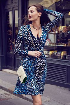 Plenty by Tracy Reese Dotscape Dress Tracy Reese, Dress Outfits, Casual Dresses, Wrap Dresses, Work Outfits, Anthropologie, Estilo Fashion, Women's Fashion, Modest Fashion