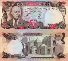 Afghanistan Afghani banknotes for sale. Dealer of quality collectible world banknotes, fun notes and banknote accessories serving collectors around the world. French West Africa, African States, Money Notes, Money Bank, St Pierre And Miquelon, World Coins, Afghanistan, Stamp, Buddha Painting