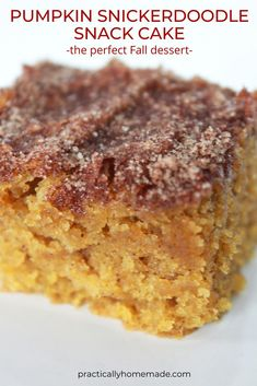 Fall Desserts, Just Desserts, Dessert Recipes, Fall Cake Recipes, Dessert Blog, French Desserts, Cupcake Recipes, Drink Recipes, Snickerdoodle Cake