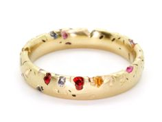 Rainbow Sapphire Eroded Crystal Ring, 18Y - Polly Wales-