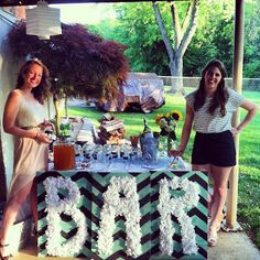 """Tissue Paper """"Bar"""" sign, table decoration  Miss Mel + Miss Heather"""