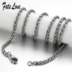 >> Click to Buy << Fate Love Top Quality Silver Link Chain Stainless Steel Long Necklaces Trendy Type 18/20/22/24 Inch Lobster Clasps Jewelry FL324 #Affiliate