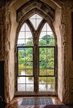 Arched Window, Leeds Castle, England