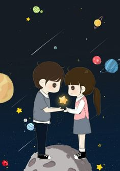 Jaan me mama k ghar ruk gaya hu 😶😘sry bat nai hogi Love Cartoon Couple, Chibi Couple, Cute Cartoon Girl, Cute Love Cartoons, Cute Couple Art, Anime Love Couple, Cute Anime Couples, Cute Love Images, Cute Love Quotes