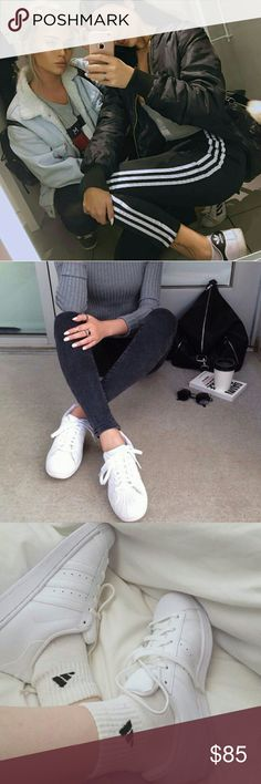 ADIDAS ORIGINALS - WHITE Brand New!   Bundle with other cute items from my closet or make an offer :) adidas Shoes Sneakers