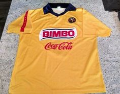 b486767d1 BIMBO Club America Futbol Soccer Corona Coca Cola Jersey L  Mexico