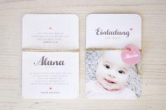 Einladungskarten - Taufkarte ›Rund‹ - ein Designerstück von oh-mai bei DaWanda