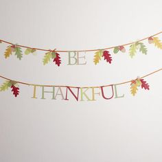 With its hues of Autumn, #WorldMarket's Be Thankful Banner inspires a warm and welcoming vibe. Set a celebratory scene when you hang this banner above your mantle or the entrance to your dining room to complete your harvest décor.
