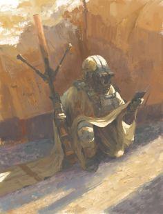 Raider sketch, Rostyslav Zagornov on ArtStation at https://www.artstation.com/artwork/vWKvx