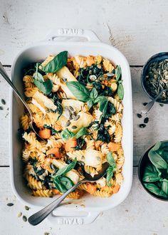 Yummy Pasta Recipes, Good Healthy Recipes, Veggie Recipes, Veggie Bites, Veggie Delight, Happy Foods, Evening Meals, Clean Eating Recipes, I Love Food