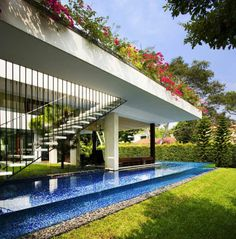 Detail from Tangga House, Singapore by guz architects