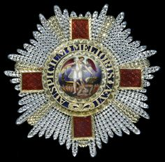 Order of St Michael and St George, G.C.M.G breast star, circa 1837, bestowed upon Vice-Admiral Sir Richard Hussey Hussey, G.C.M.G., K.C.B., Royal Navy.