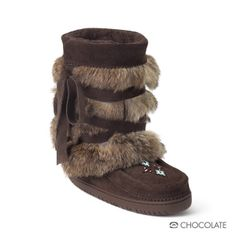 Manitobah Women's Short Wrap Mukluk Boot I would SO love a pair... in grey... Santa, you on Pinterest?
