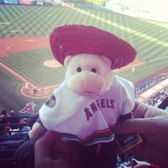 Cinco de Mayo rally monkey at the Angels game.