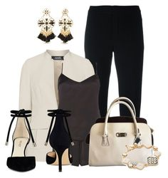 """black and cream"" by lchar ❤ liked on Polyvore featuring Chloé, navabi, Dorothy Perkins, MICHAEL Michael Kors, Kate Spade and Nine West"