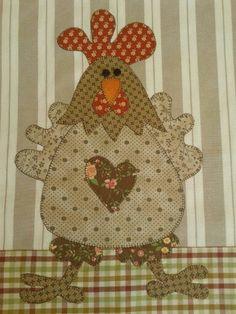 Applique Templates, Applique Patterns, Applique Quilts, Applique Designs, Embroidery Applique, Quilt Patterns, Patch Quilt, Quilt Blocks, Chicken Crafts