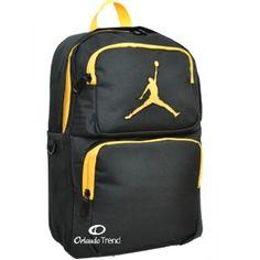 d696196aa24 Nike Air Jordan 365 Deuce Black and Yellow Backpack for 14
