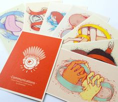 """Communications"" Postcards via DISAIKNER. Click on the image to see more!"