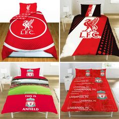 OFFICIAL LIVERPOOL FC FOOTBALL CLUB SINGLE CREST DUVET QUILT COVER BEDDING SETS