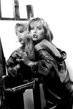 Sharon Stone by Nancy Ellison, 1990 Sharon Stone, Women Smoking, Girl Smoking, Photo A Day, First Photo, Karen Black, Jacqueline Bisset, Star Wars, Stone Pictures