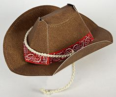 A great party hat with an authentic cowboy feel for a western party.