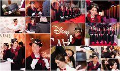 Fotografie Kathleen Rits voor Challenge MC op de Gala Avant Première van de Disneyfilm Saving Mr Banks met de hostesses als Mary Popins