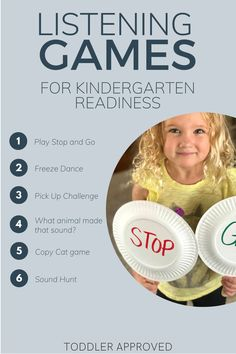 Listening Games: Kindergarten Readiness Activity - Toddler Approved
