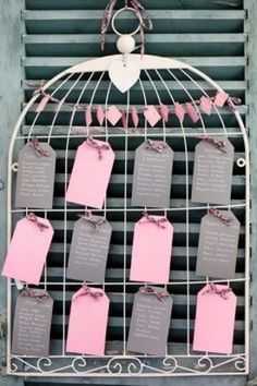 Plan de table cage à oiseau