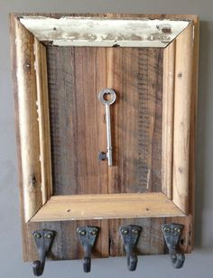 rustic everything | Everything From Wood / Key hanging on rustic wood! I think this would ...