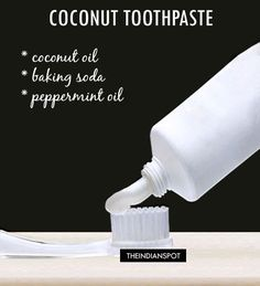 HOMEMADE NATURAL COCONUT OIL TOOTHPASTE