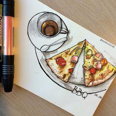 Спасибо @jeforel за организацию встречи художников :) а это моя первая зарисовка в новом скетчбуке moleskine #moleskine #pizza #oeuvre #dessin #esquisse #graphique #kunst #zeitplans #letraset #art #drawing #illustration #illustrator #myart #mydrawing #sketch #sketchbook