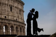 A Beautiful and Romantic Honeymoon Photo Shoot from the Trevi fountain to the Colosseum. Image by the Andrea Matone Photography studio in Rome Italy Romantic Honeymoon, Romantic Couples, Couple Posing, Couple Photos, Couple Silhouette, Silhouette Photography, Trevi Fountain, Future Travel, Rome Italy