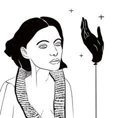 #drawing #digitalpainting #woman #hand #outline #stroke #minimalism #tattooideen #tattoo #eyes