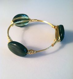 The Camden  gold wire wrapped bracelet bangle with by SOHbangles