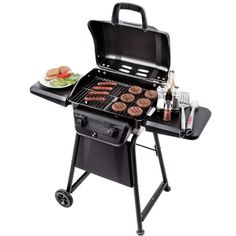 """The Char-Broil classic 280 is a two burner gas grill that delivers BTU's of heat & a 280 square"""" cooking surface to accomodate large meals with ease. Char Broil Grill, Bbq Grill, Grilling, Bbq Meat, Propane Gas Grill, How To Clean Metal, Outdoor Cooking, Cleaning Wipes, Cool Things To Buy"""