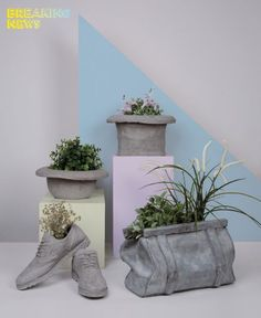 Are you interested in our Concrete Bag?via Rocca 5046019 - Viadana - MN - Italy'Chaussures Cement Pot/Object Holder by Seletti.how to make cement cloth plantersDiscover Concrete Vases Collection