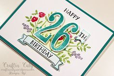Number of Years by craftincaly - Cards and Paper Crafts at Splitcoaststampers