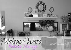 polish insomniac: Makeup Wars - Makeup Storage