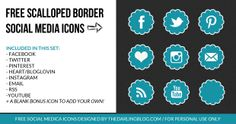 Free Scalloped Border Social Media Icons