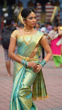 South Indian bride.  Wedding #saree