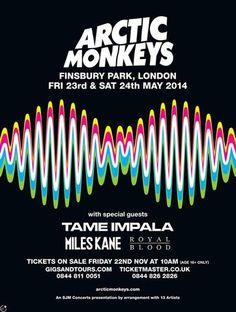 Arctic Monkeys - London 2014 - Mini Print