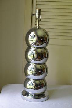 1970's Kovacs Style Chrome Lamp Mid Century Modern  by ChromeTiki