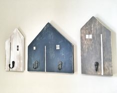 Rustic, contemporary farmhouse & functional wooden rack hooks These stunning adorable rustic wooden houses with hooks will add a touch of color to any entryway, kids room, playroom, laundry room, mud room, bathroom or office - the possibilities are endless! Can be used to hang