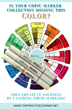 How to layer Copic markers to create a new color? Copic Marker Art, Copic Pens, Copic Sketch Markers, Copics, Copic Art, Copic Color Chart, Copic Colors, Alcohol Markers, Alcohol Inks