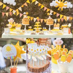festa infantil tema sol - Pesquisa Google Little Girl Birthday, Bday Girl, Baby First Birthday, First Birthday Parties, Birthday Party Themes, Sunshine Birthday Parties, Summer Birthday, Sunshine Baby Showers, Lemon Party