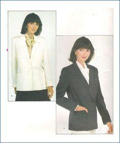 Vogue 8083 Sewing Pattern Misses Jacket Uncut Size 12